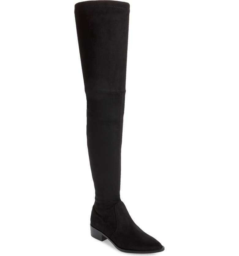STEVE MADDEN Jody Thigh High Boot, Main, color, BLACK