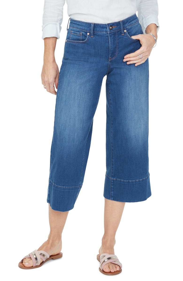 NYDJ Wide Leg Capri Jeans, Main, color, LADERA