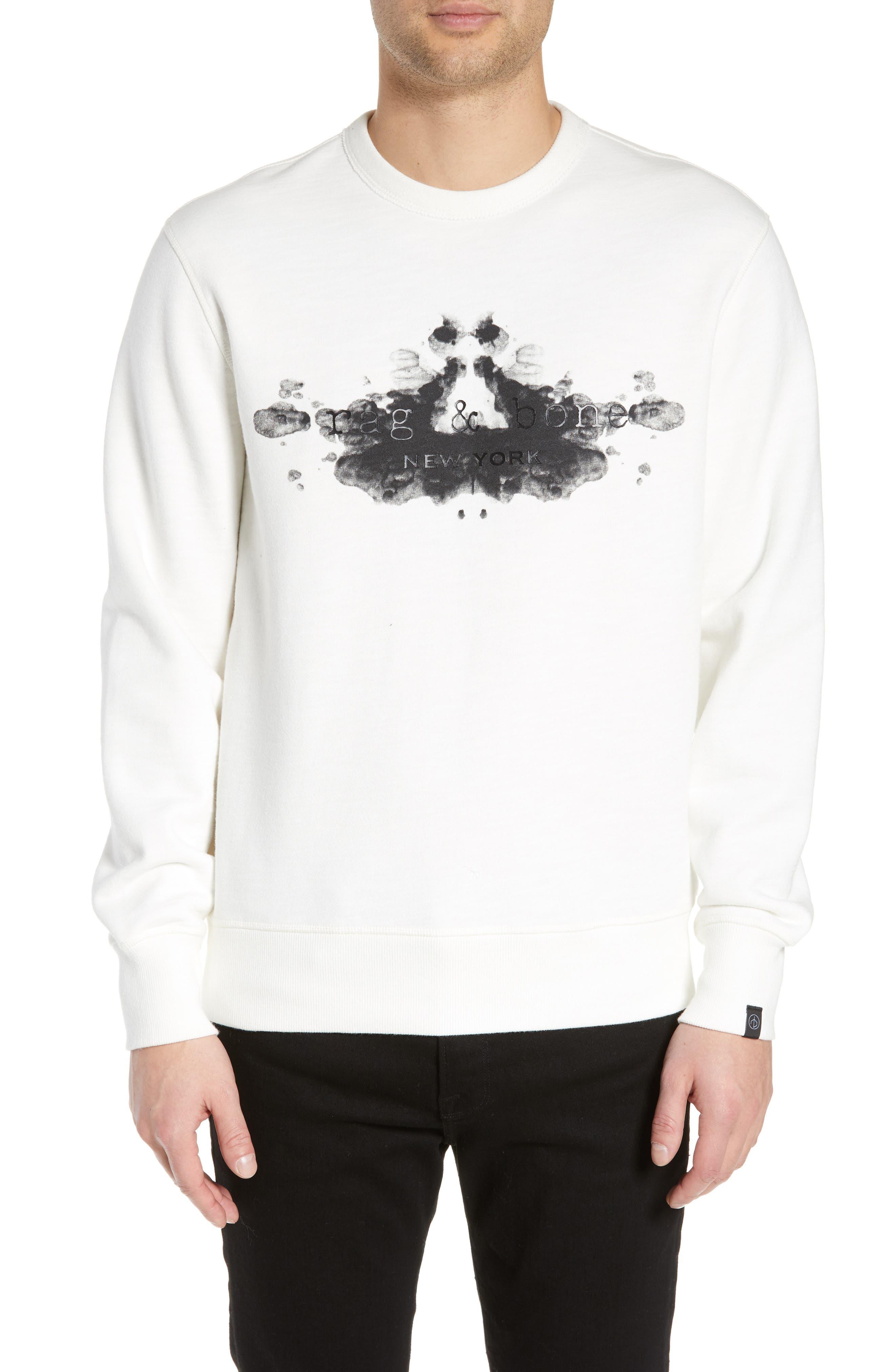 ,                             Rorschach Slim Fit Sweatshirt,                             Main thumbnail 1, color,                             IVORY