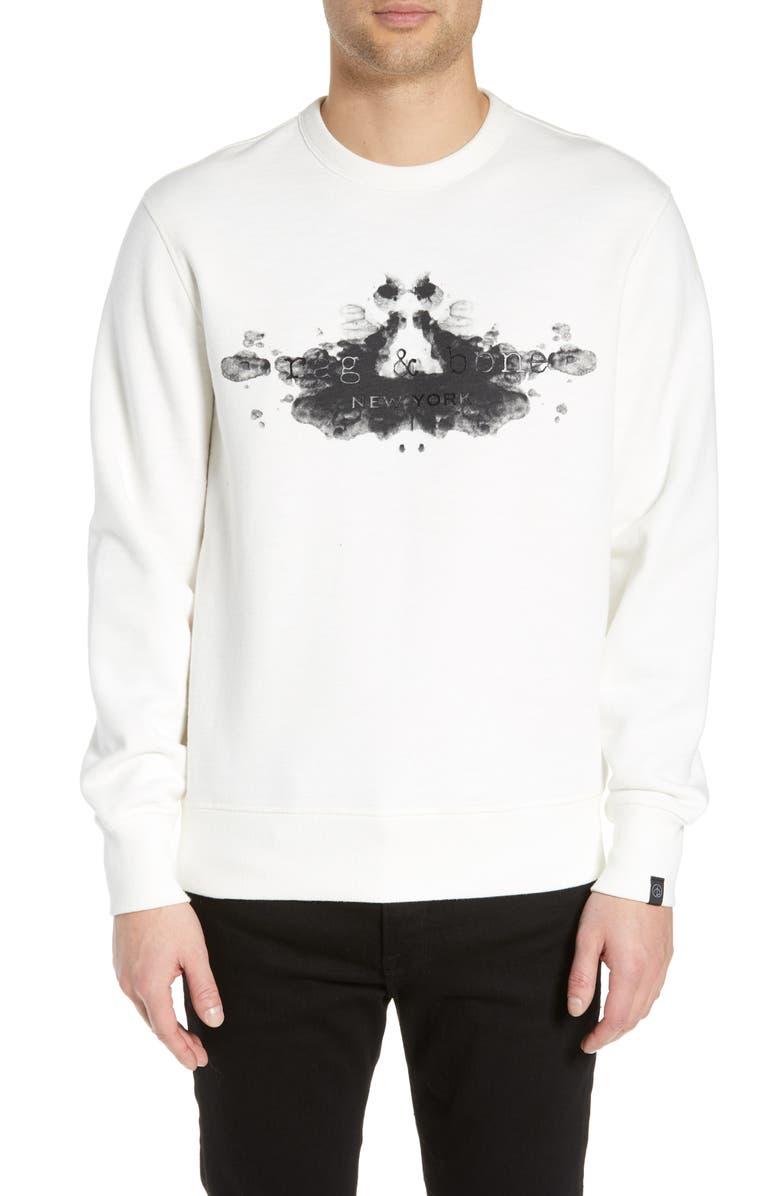 RAG & BONE Rorschach Slim Fit Sweatshirt, Main, color, 900