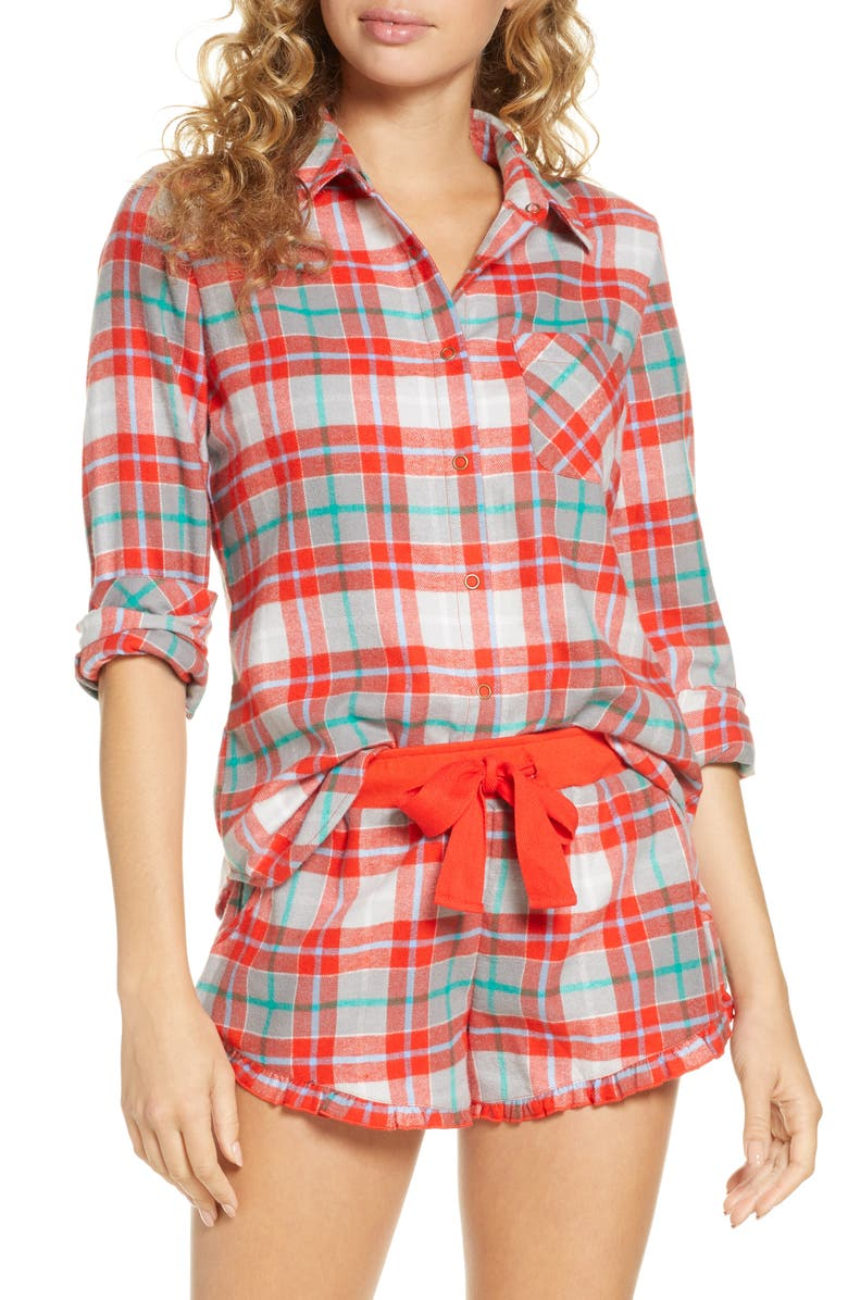 BP. Flannel Short Pajamas, Main, color, 610