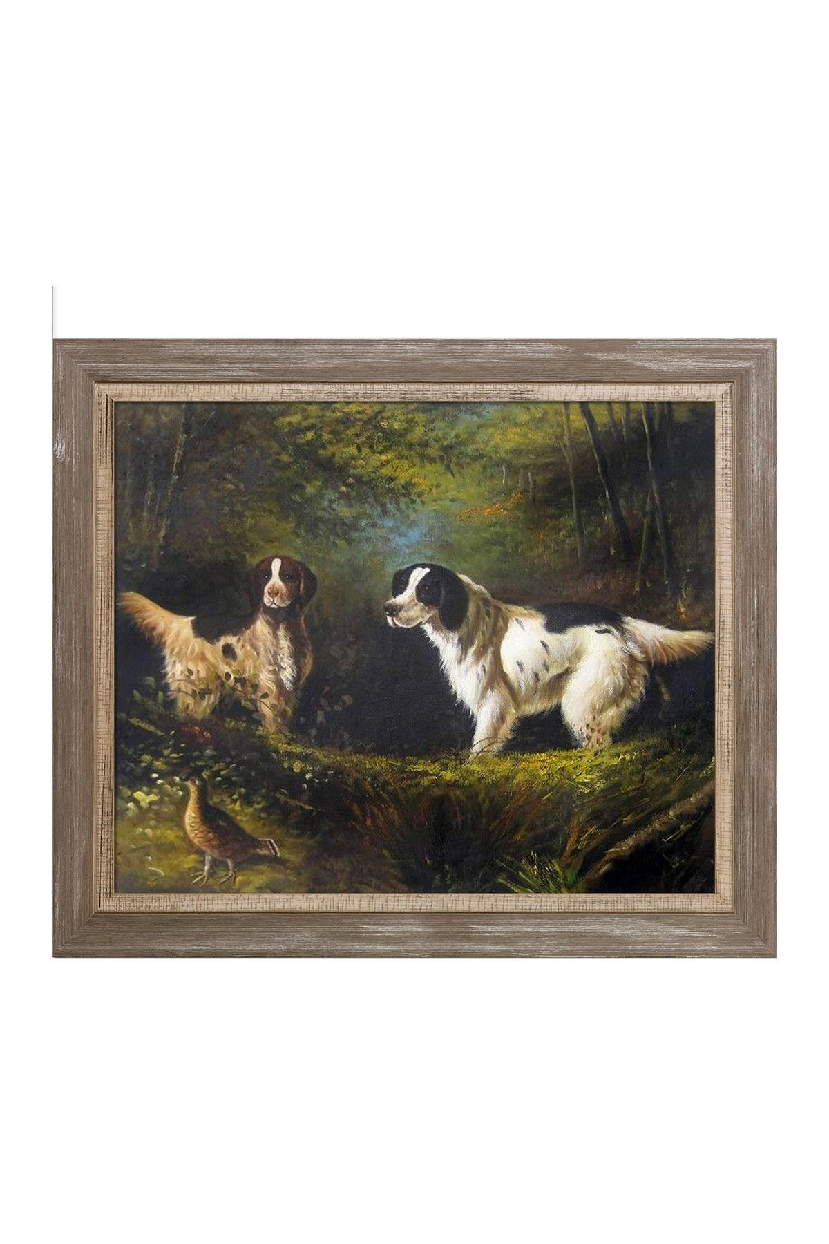 Image of Overstock Art October in the Forest with Miramar Distressed Charcoal Grey Frame