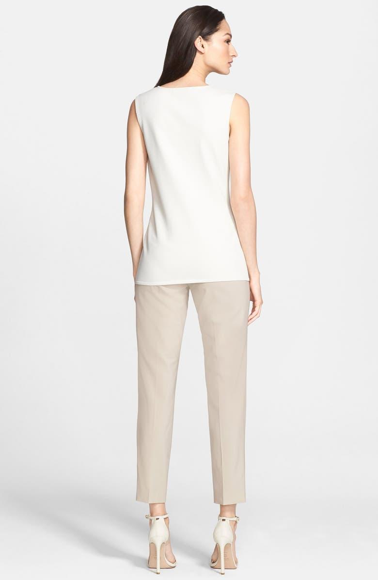 ST. JOHN COLLECTION 'Emma' Tropical Wool Crop Pants, Main, color, 250