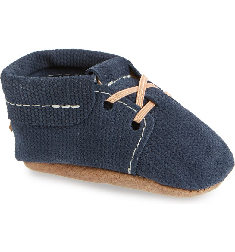 FRESHLY PICKED Oxford Crib Shoe, Main, color, KNIT NAVY