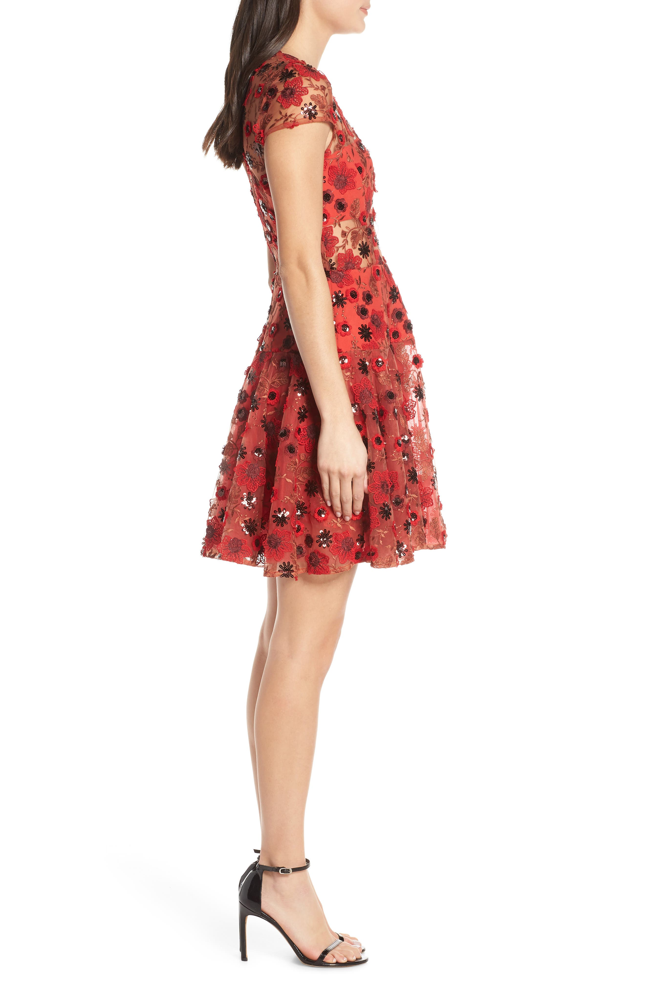 ,                             Della Rouge Minidress,                             Alternate thumbnail 4, color,                             RED