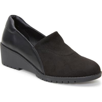 Adam Tucker Nolte Wedge Loafer- Black