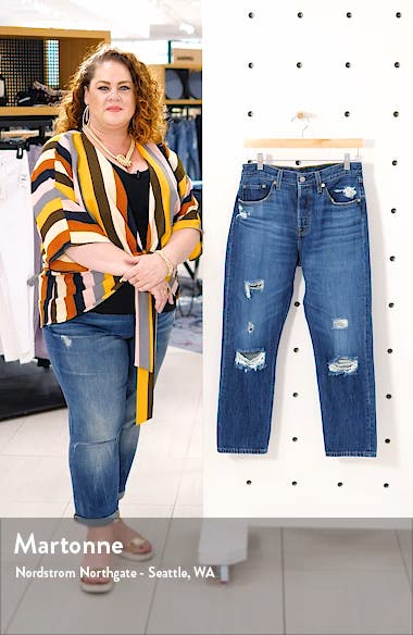 501<sup>®</sup> Ripped Crop Straight Leg Jeans, sales video thumbnail