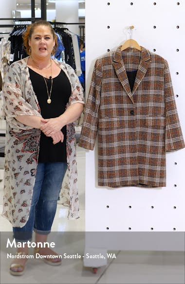 Plaid Bouclé Topper Coat, sales video thumbnail