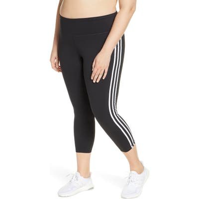 Plus Size Adidas 3-Stripes 7/8 Tights