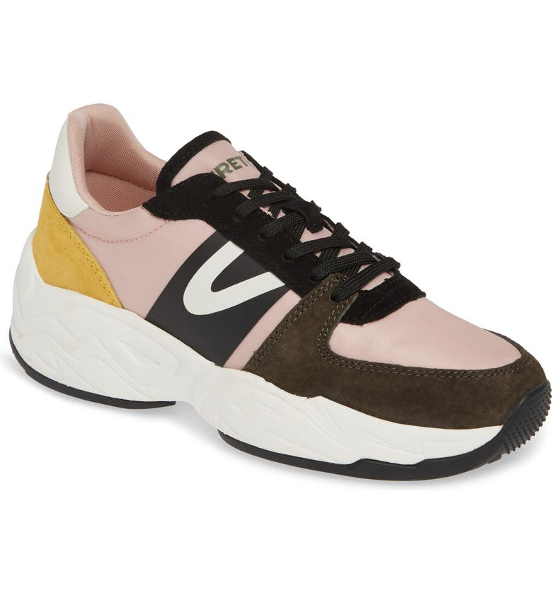 TRETORN Lexie3 Sneaker, Main, color, OLIVE/ NEUTRAL PINK/ YELLOW