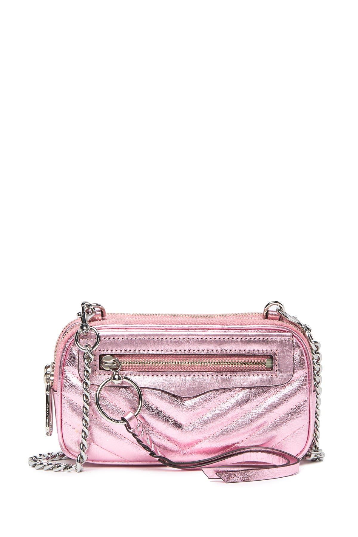 Image of Rebecca Minkoff Leather Double Zip Crossbody Bag