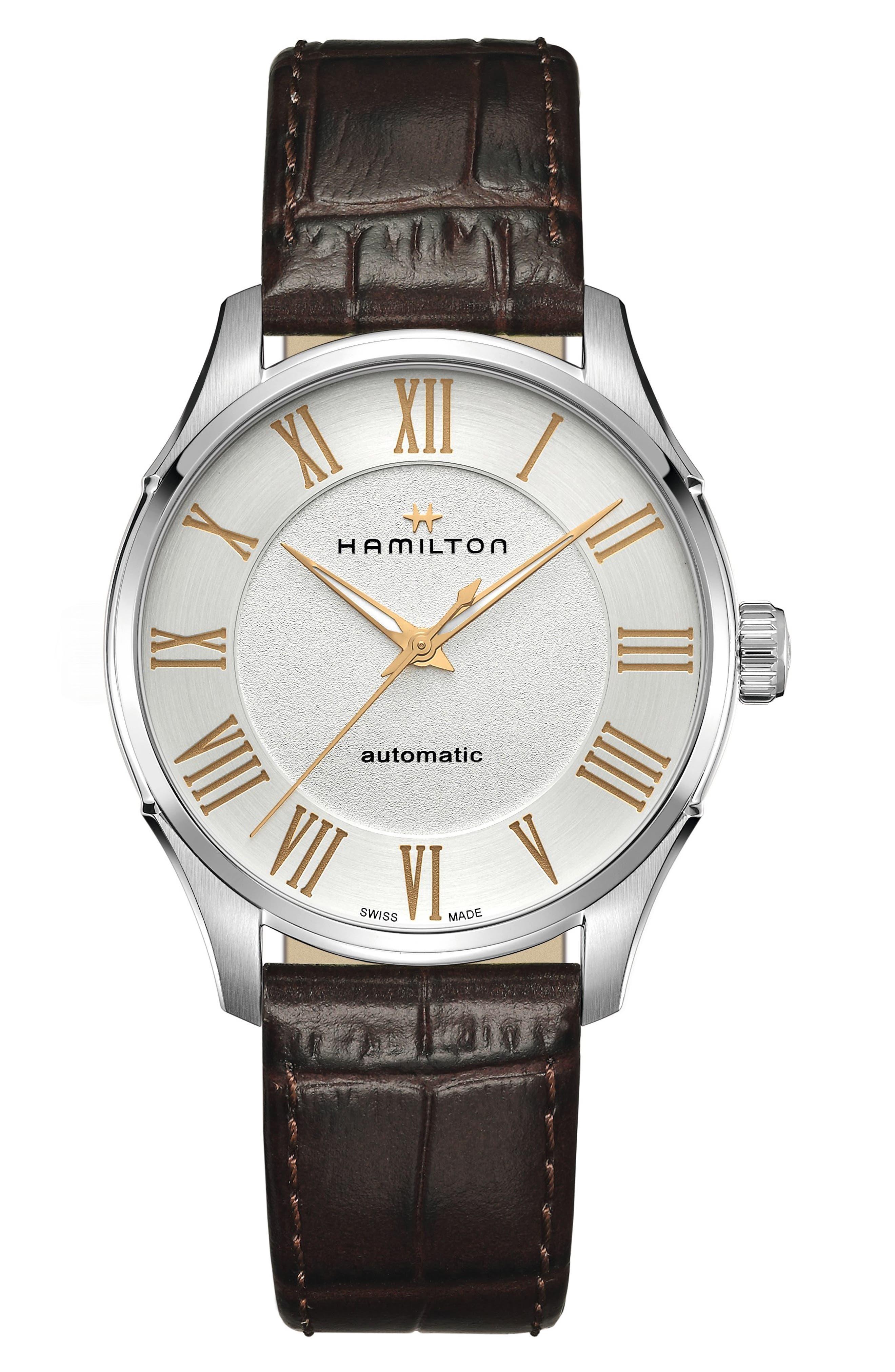 Jazzmaster Automatic Leather Strap Watch