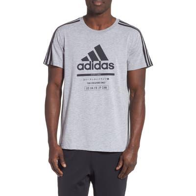 Adidas Classic International Regular Fit T-Shirt, Grey
