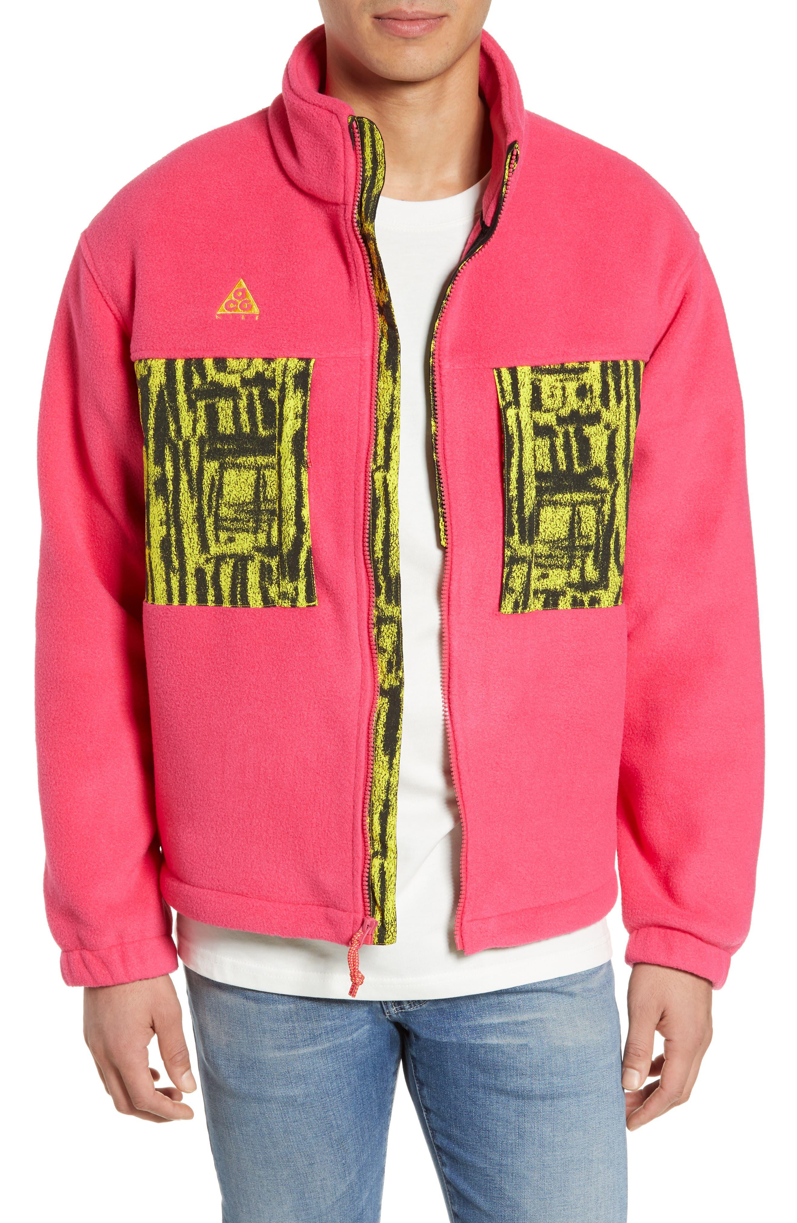Nike Acg Fleece Jacket, Pink