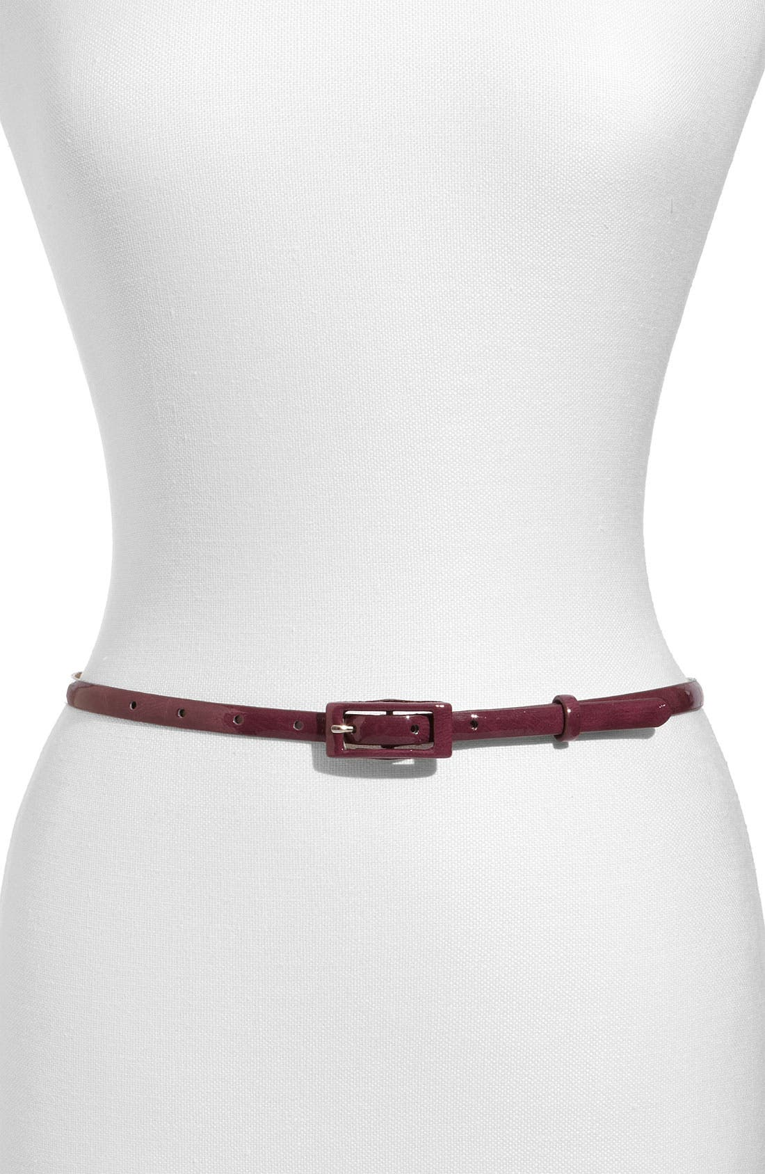 ,                             'Updated' Skinny Patent Belt,                             Main thumbnail 27, color,                             500