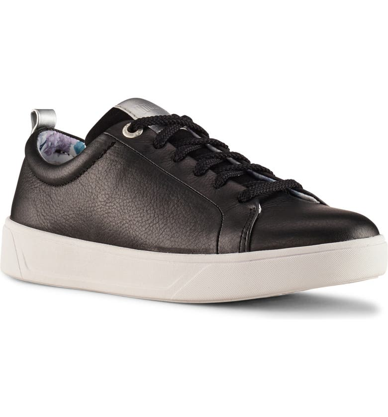 COUGAR Bloom Sneaker, Main, color, BLACK LEATHER