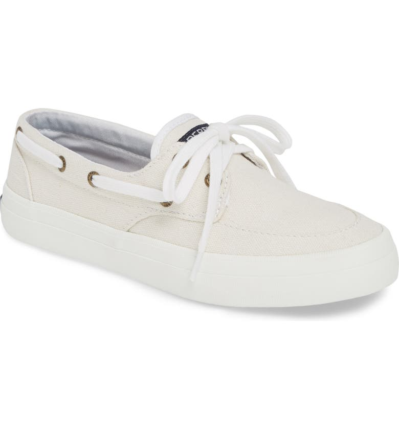 SPERRY Crest Boat Sneaker, Main, color, WHITE FABRIC