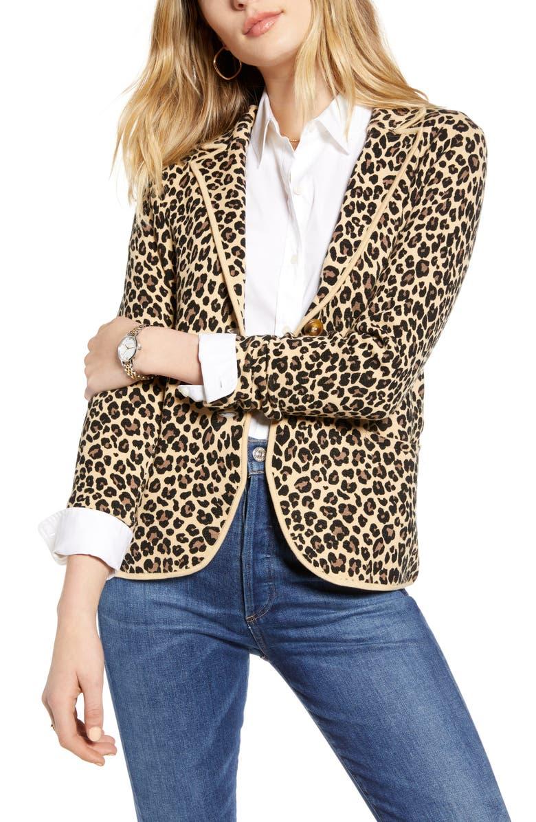 1901 Sweater Blazer, Main, color, TAN-BLACK CHEETAH PRT