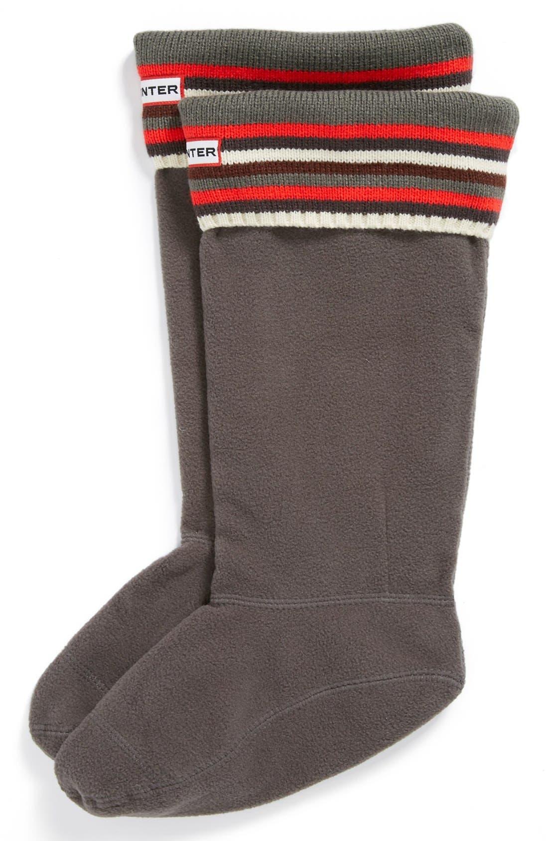 ,                             Tall Stripe Cuff Welly Socks,                             Main thumbnail 6, color,                             035
