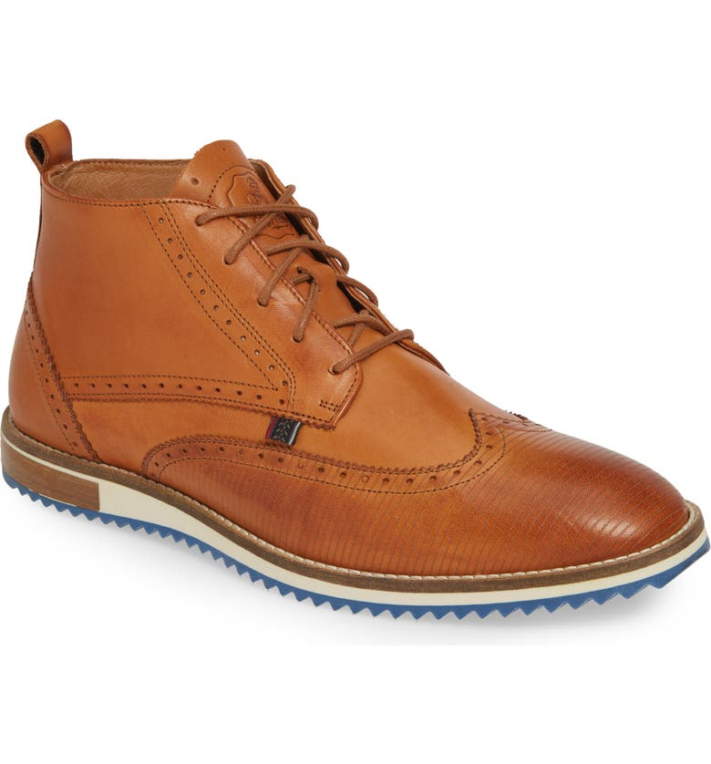 CYCLEUR DE LUXE Lima Wingtip Boot, Main, color, COGNAC/ DARK BRUSHING