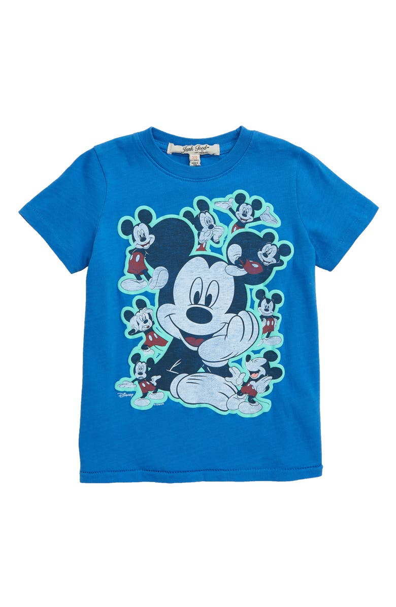 JUNK FOOD Mickey Heads Graphic T-Shirt, Main, color, 462
