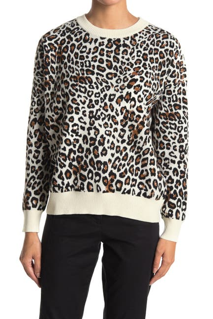 Image of T Tahari Crew Neck Long Sleeve Pullover Sweater