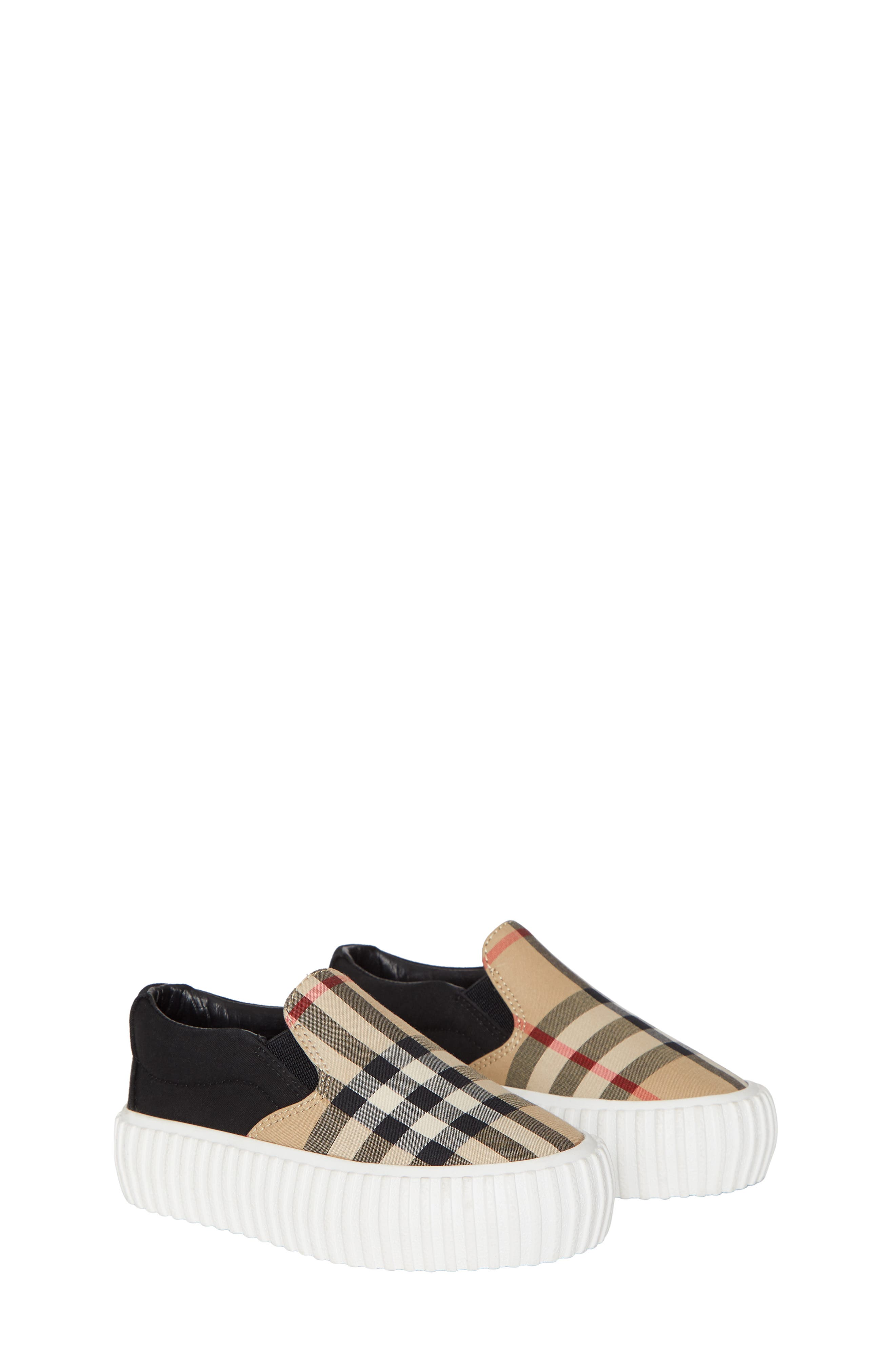 Burberry checks make this slip-on sneaker a perfectly preppy addition to any look. Style Name: Burberry Erwin Slip-On Sneakers (Walker & Toddler). Style Number: 5867364. Available in stores.