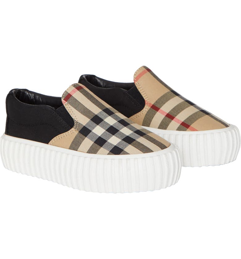 BURBERRY Erwin Slip-On Sneakers, Main, color, ARCHIVE BEIGE/ BLACK