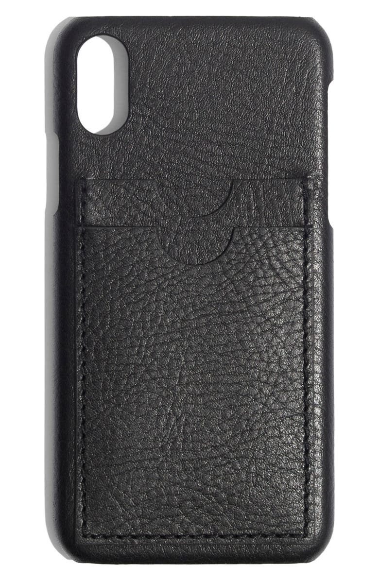 7671f445 Card Slot Leather iPhone X/Xs Case