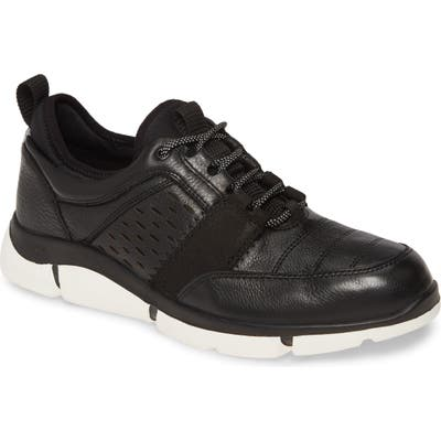 Johnston & Murphy Cleary U-Throat Waterproof Sneaker- Black