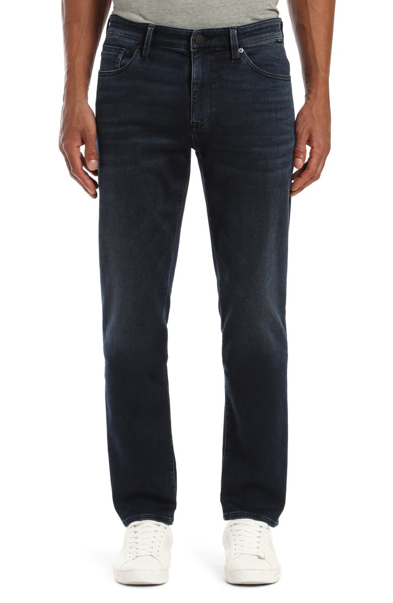 MAVI JEANS Zach Straight Fit Jeans, Main, color, BLUE BLACK ATHLETIC