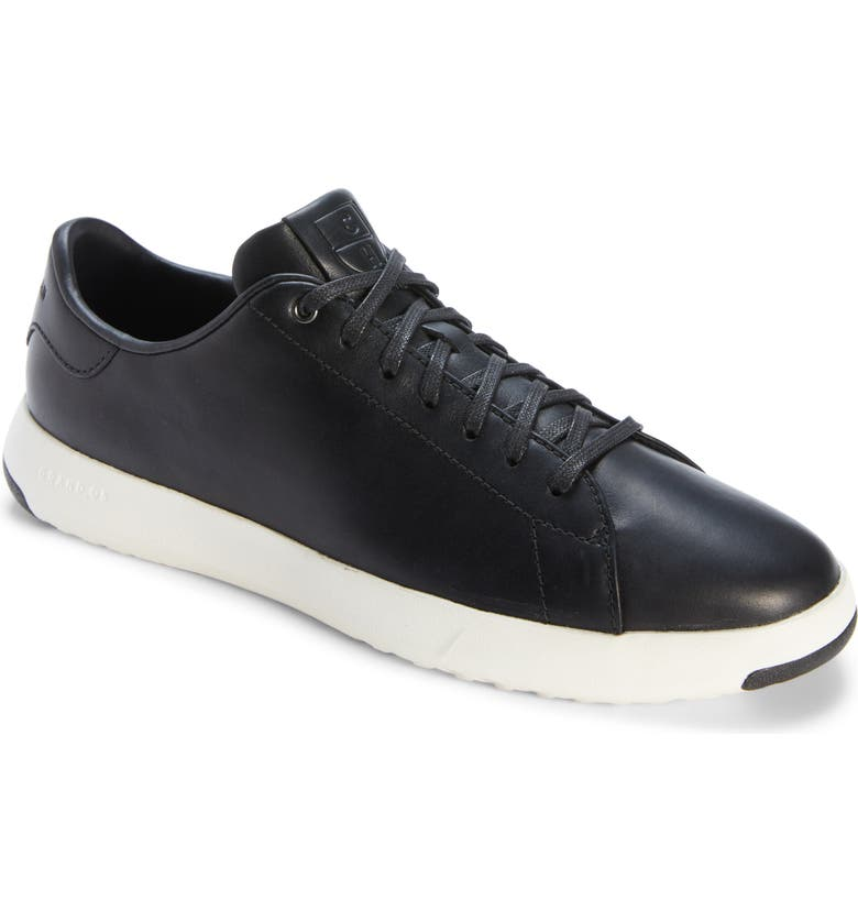 COLE HAAN GrandPro Low Top Sneaker, Main, color, BLACK LEATHER