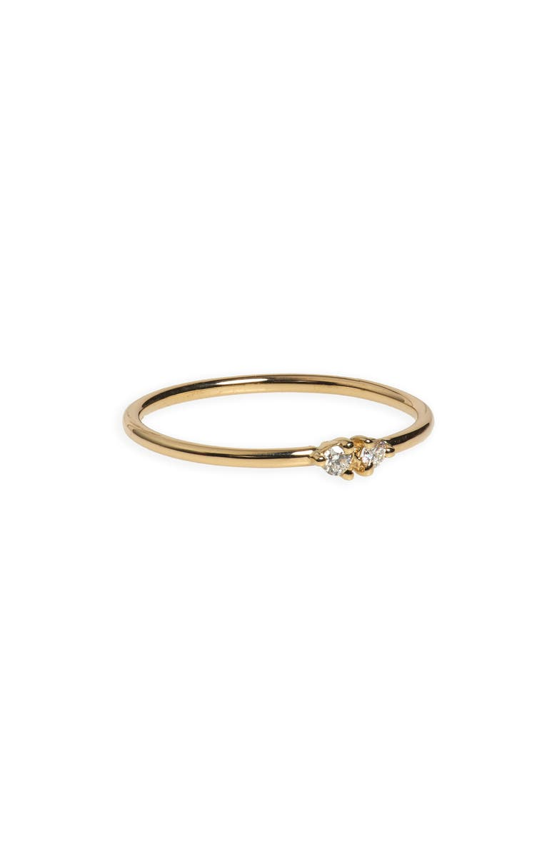 WWAKE Double Stone Ring, Main, color, GOLD
