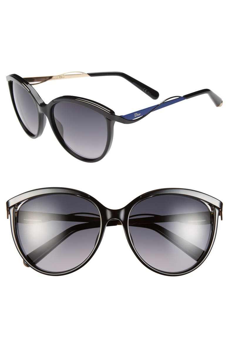 DIOR Metaleyes 1 57mm Retro Sunglasses, Main, color, 001