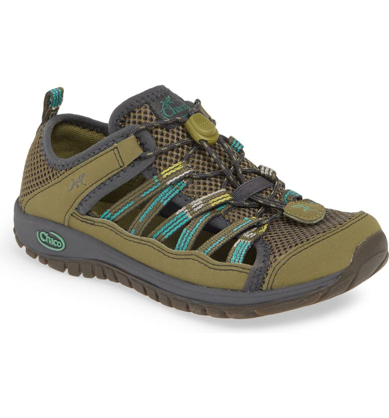 CHACO Outcross 2 Water Sneaker, Main, color, GREEN