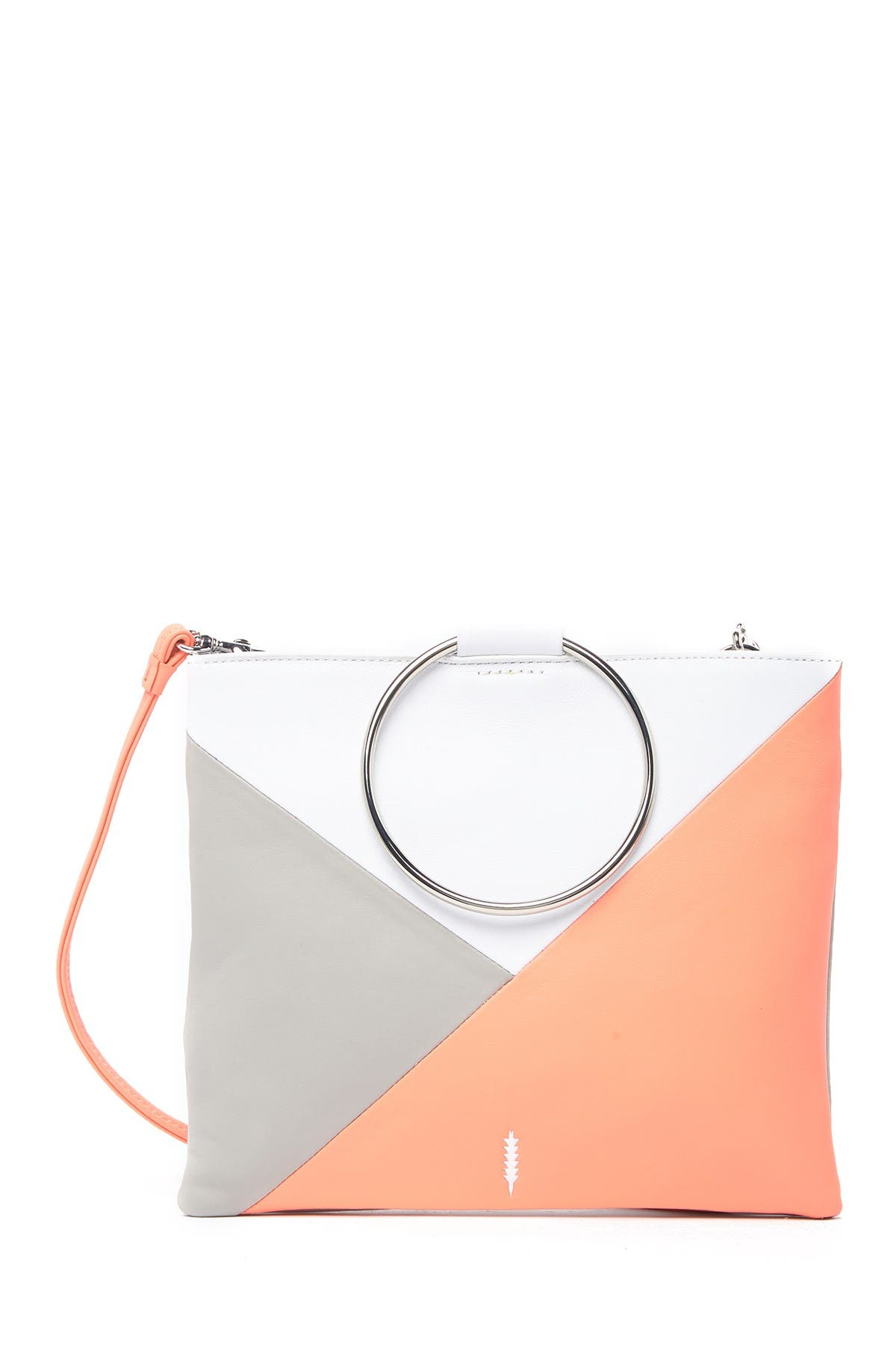 Image of THACKER Le Pouch Colorblock Leather Crossbody Bag