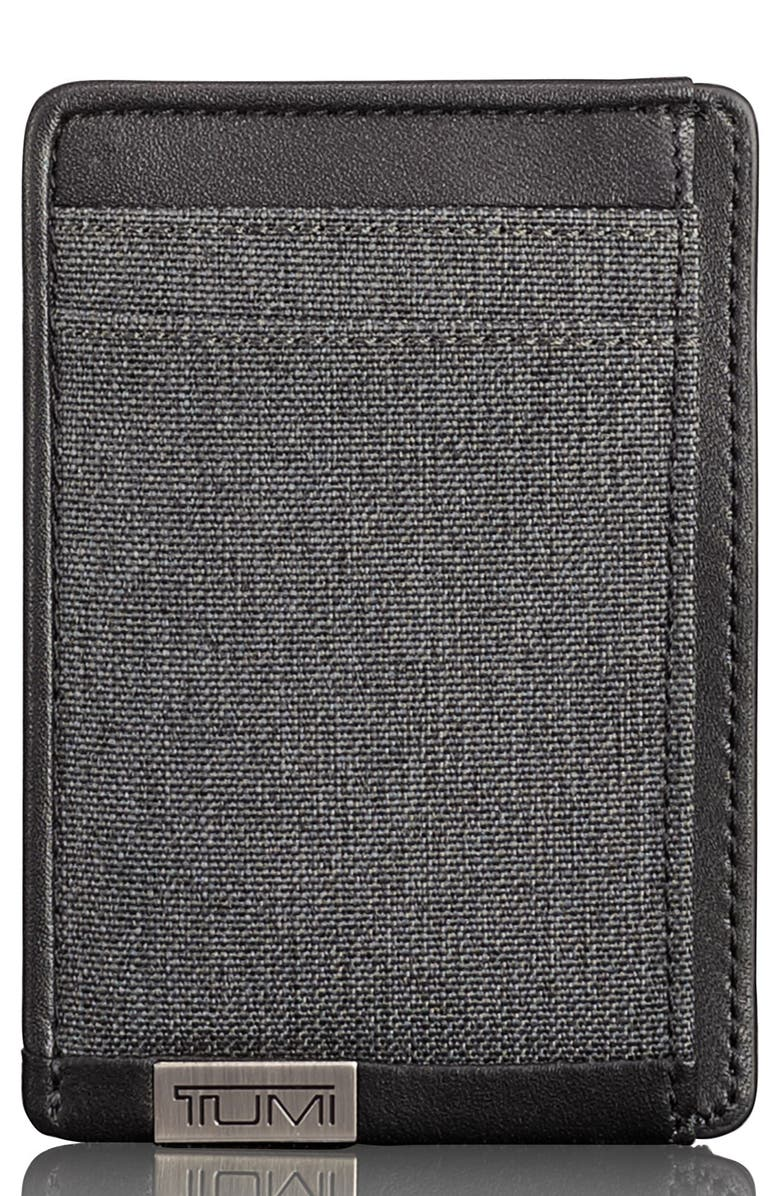TUMI Alpha Money Clip Card Case, Main, color, ANTHRACITE/ BLACK