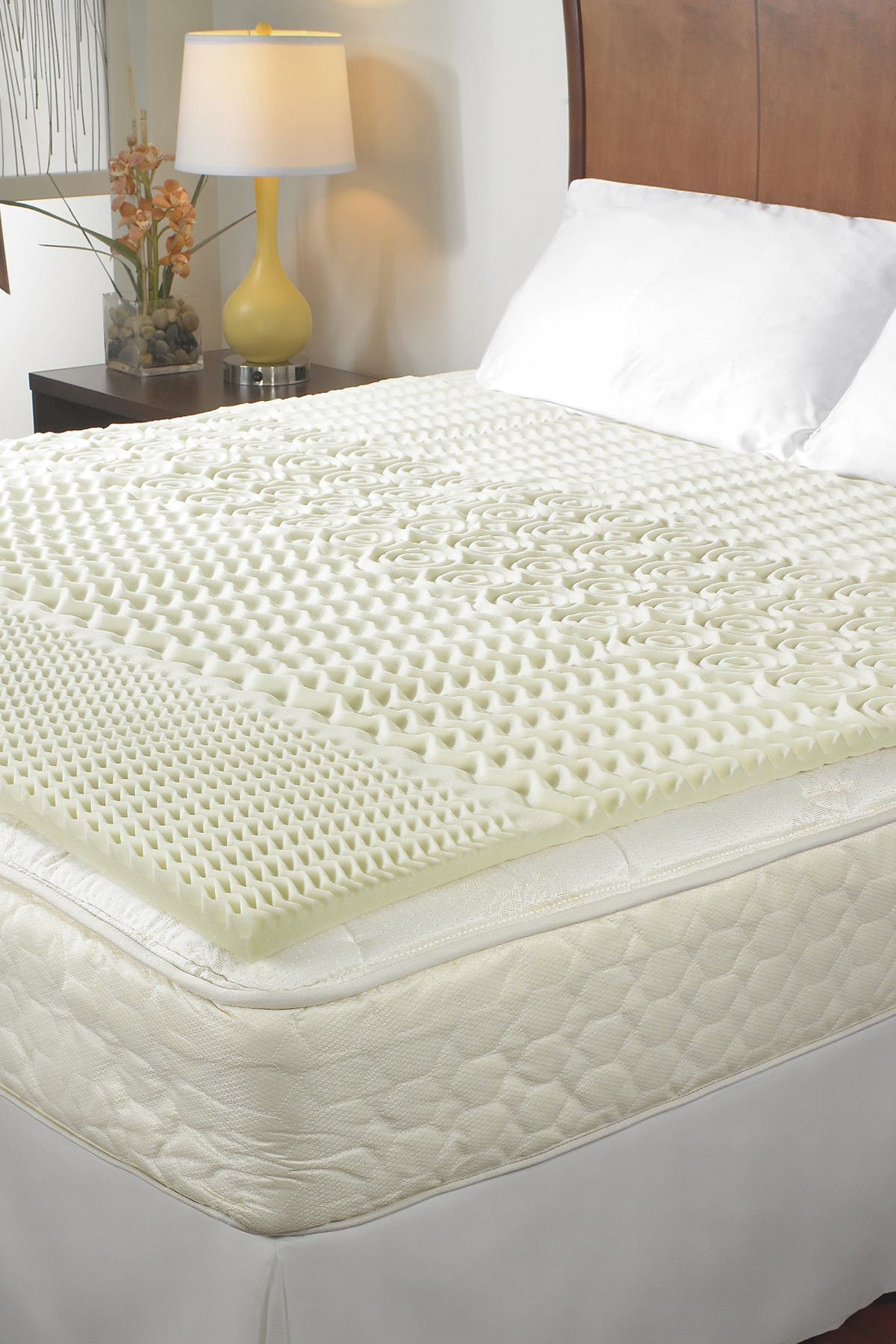 "Image of Rio Home Sleep Essentials 1.5"" 5-Zone Memory Foam Cal King Topper"