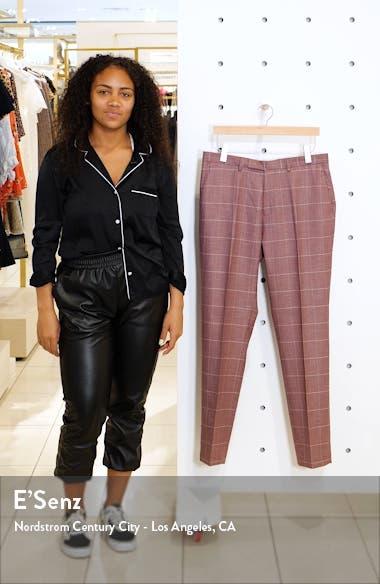 Slim Fit Windowpane Suit Dress Pants, sales video thumbnail