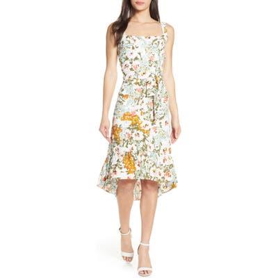 Chelsea28 Floral Belted Fit & Flare Sundress, Ivory