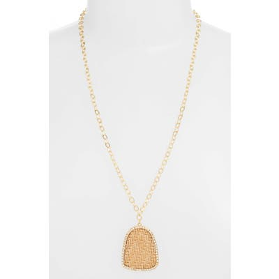 Ettika Raffia Pendant Necklace
