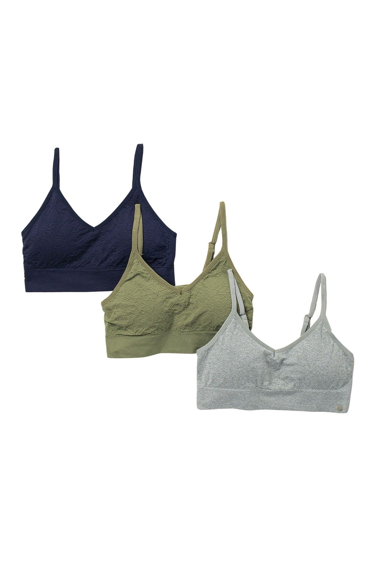 Image of Lucky Brand Seamless V-Neck Bralette - Pack of 3