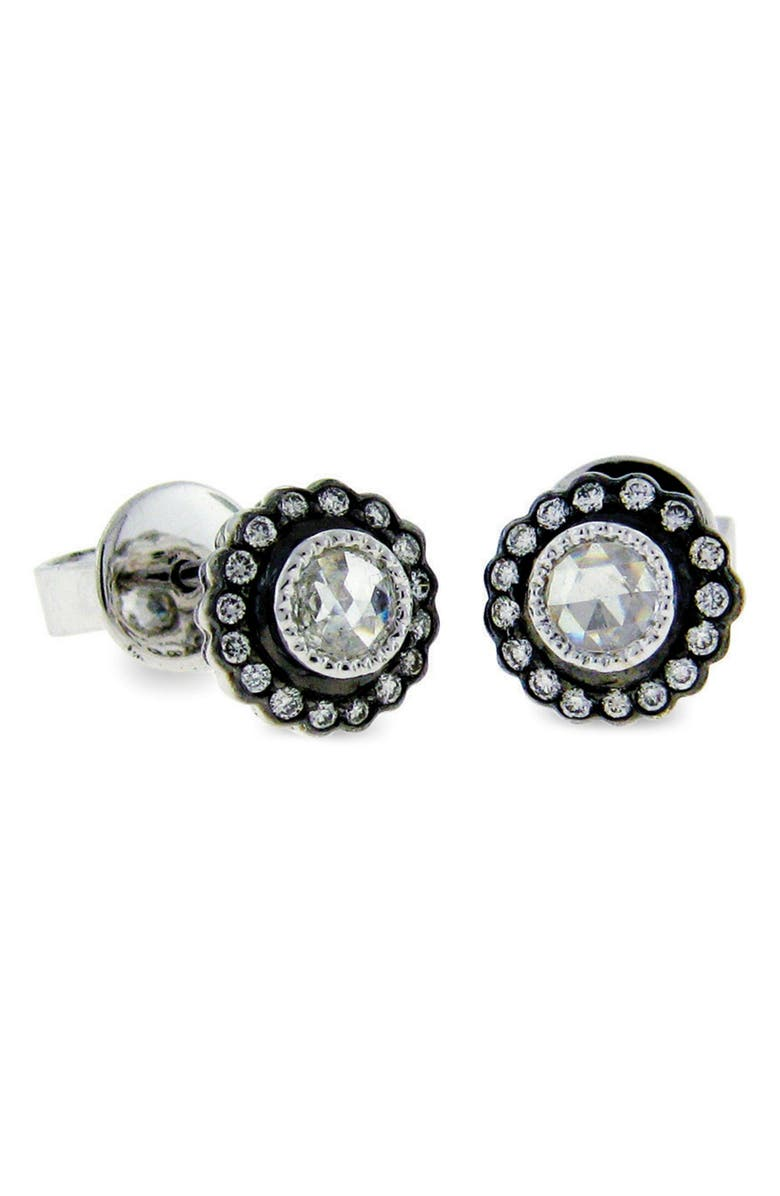 SETHI COUTURE True Romance Earrings, Main, color, BLACK RHODIUM/ WHITE