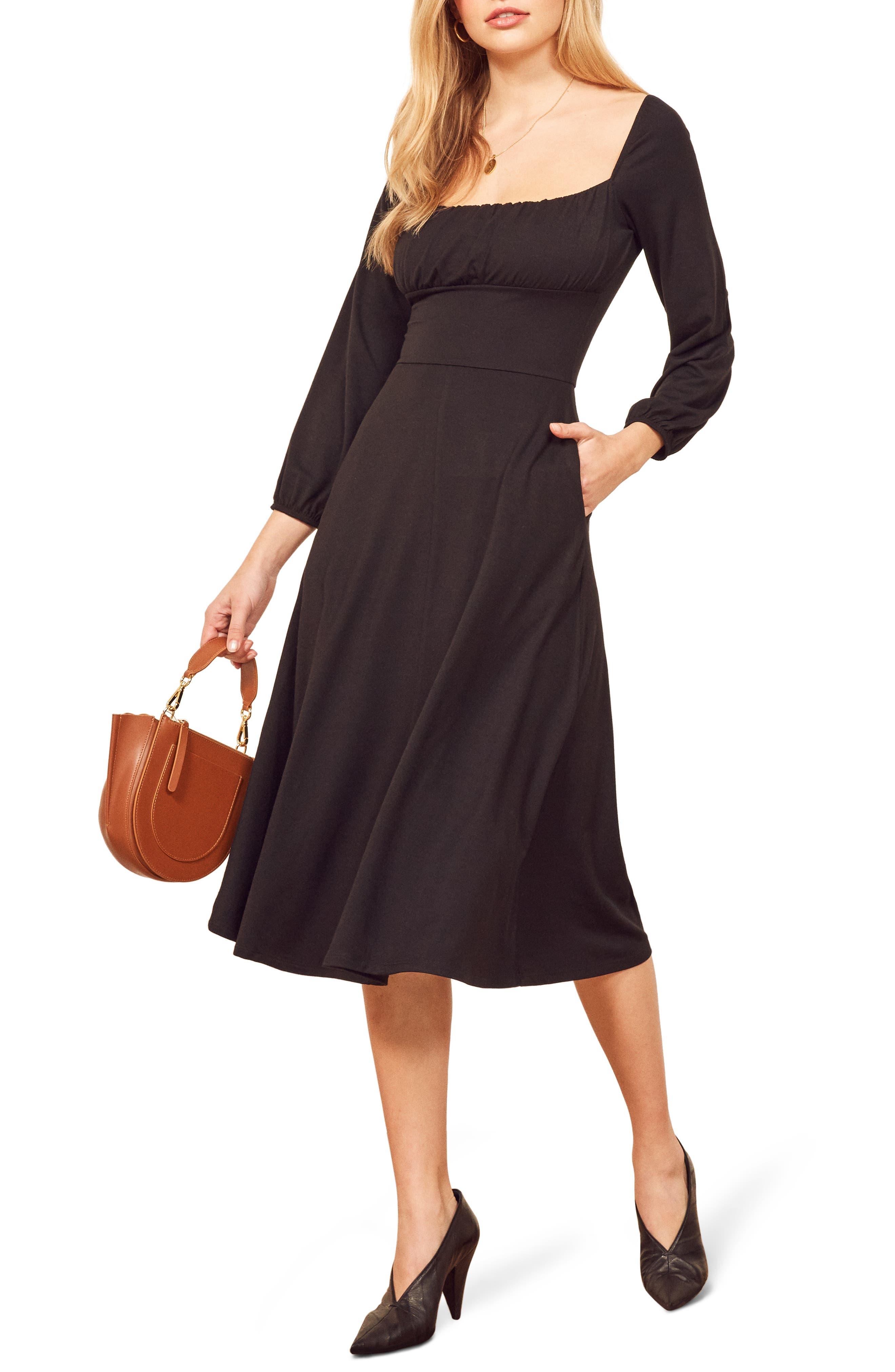 Reformation Pippa Dress, Black