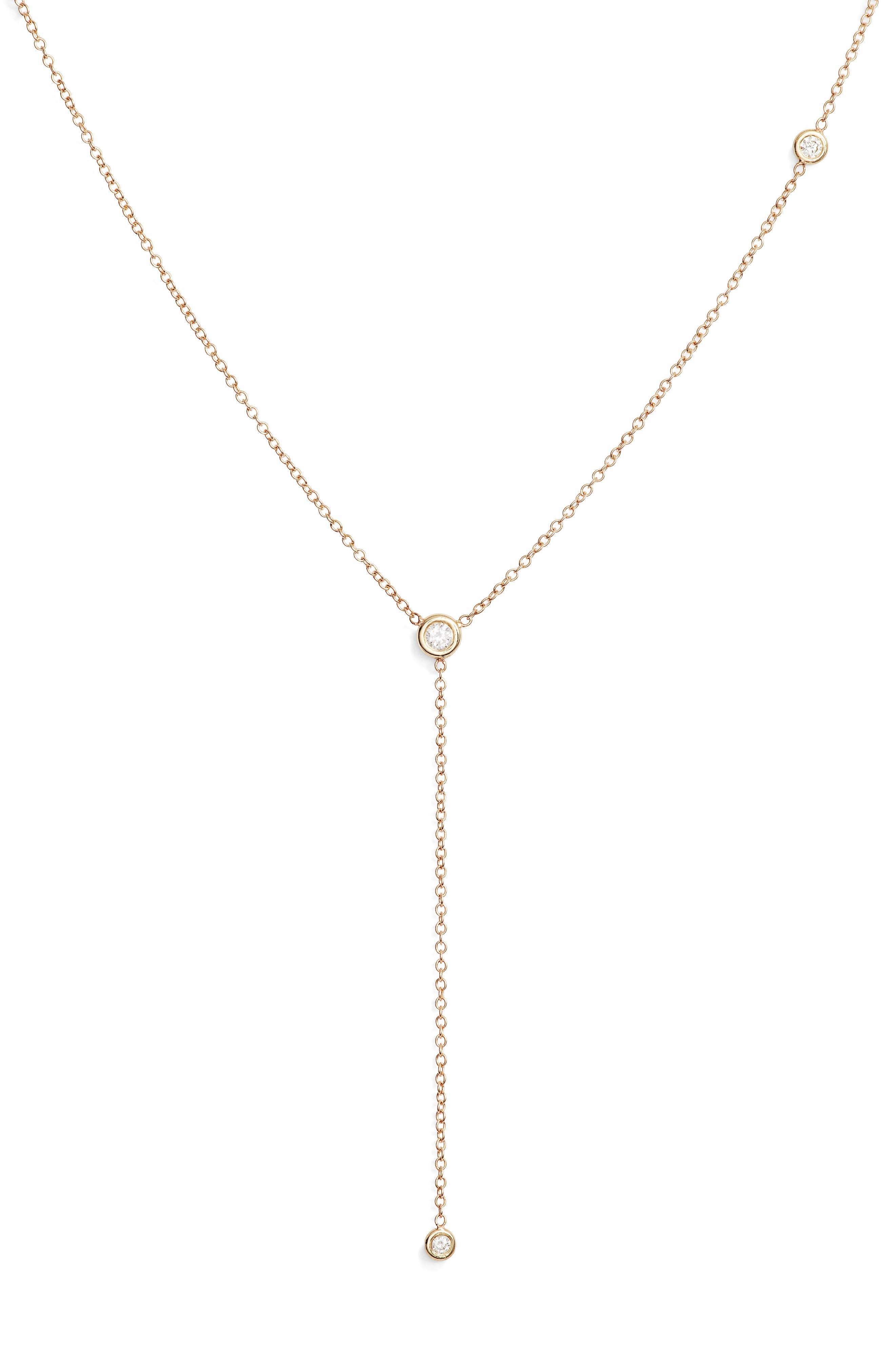Zoe Chicco Diamond Y-Necklace