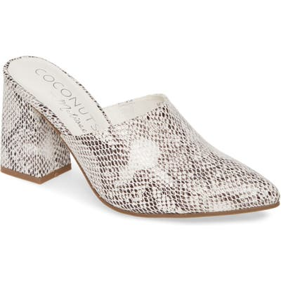 Coconuts By Matisse High Noon Snake Embossed Mule, White