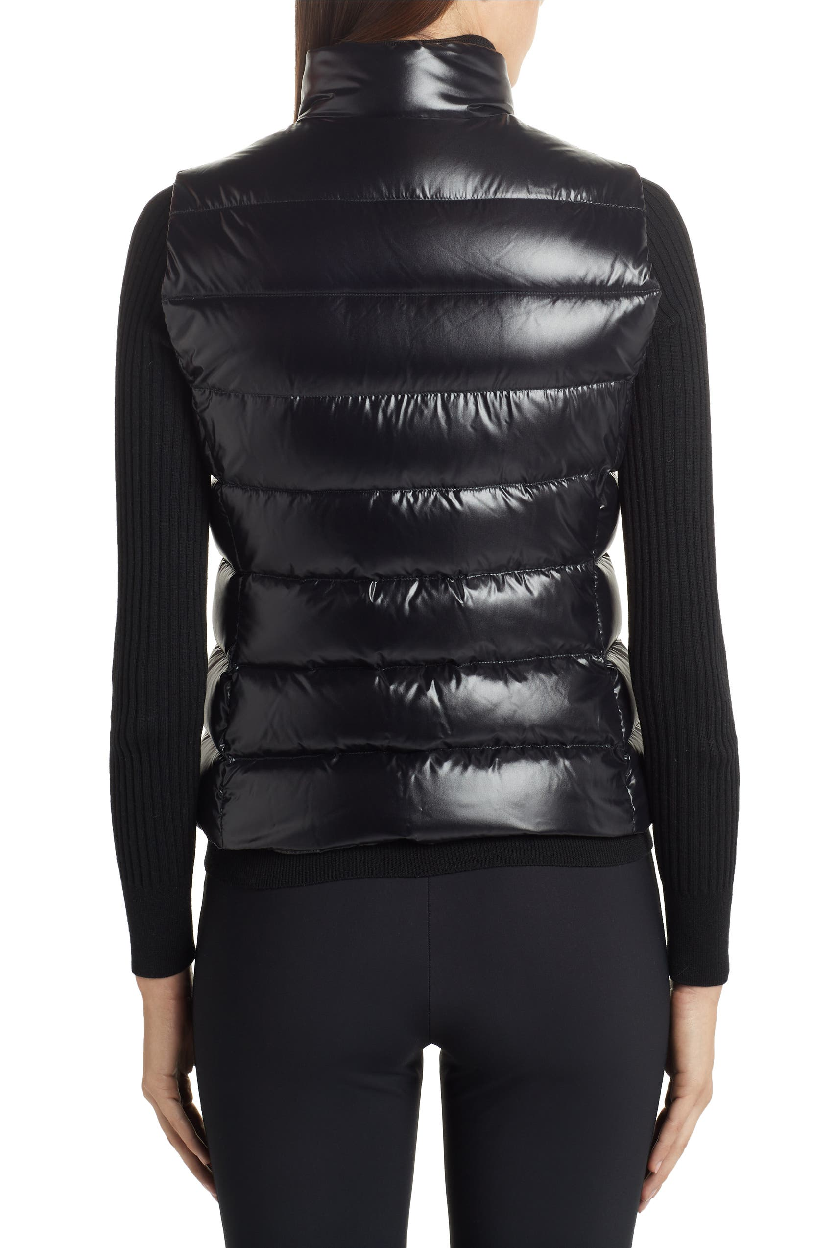 Ghany Water Resistant Shiny Nylon Down Puffer Vest