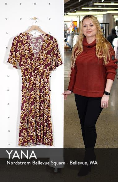 Surplice Midi Dress, sales video thumbnail