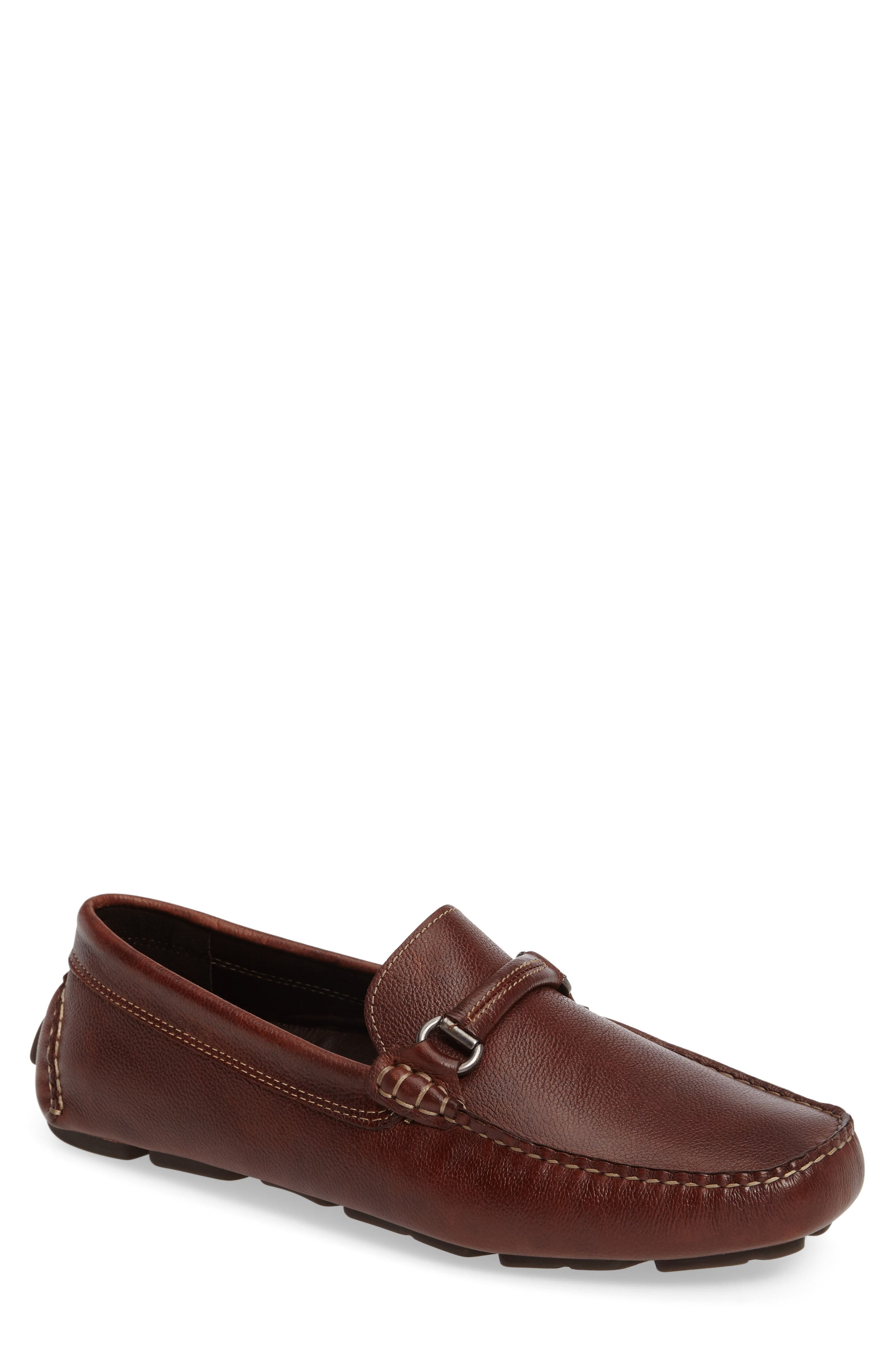 Johnston & Murphy Gibson Bit Driving Loafer, Brown