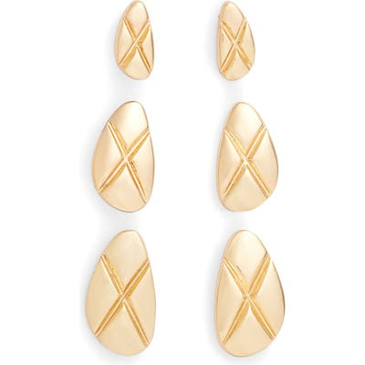 Sterling Forever 3-Pack The Mirage Stud Earrings